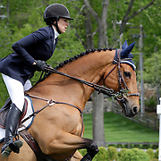 NORTH SALEM, NEW YORK - May 15: Brianne Goutal, USA, riding Zernike K, in action during The $50,000 Old Salem Farm Grand Prix presented by The Kincade Group at the Old Salem Farm Spring Horse Show on May 15, 2016 in North Salem. (Photo by Tim Clayton/Corbis via Getty Images)