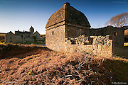 It is hard to get a good angle on both these impressive buildings, especially in the right light, but this evening everything just seemed to fall into place. The warm dead bracken compliments the colours of this beautiful but now disused historic dovecot. With an original wishing well just up a footpath, this place is steeped in history.