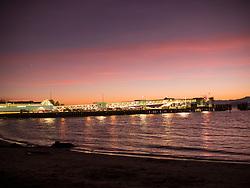 United States, Washington, Edmonds, Puget Sound, ferry terminal walkway