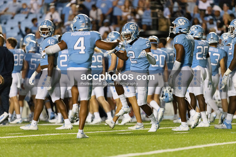 CHAPEL HILL, NC - SEPTEMBER 11: North Carolina Tar Heels during a game against the Georgia State Panthers on September 11, 2021 at Kenan Stadium in Chapel Hill, North Carolina. North Carolina won 59-17. (Photo by Peyton Williams/Getty Images)