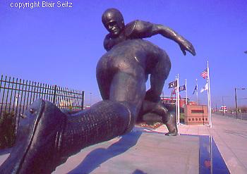 Lincoln Financial Field, Football Sculpture,  Philadelphia Eagles stadium, Philadelphia, PA