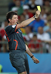 Referee Herbert Fandel of Germany during the UEFA EURO 2008 Quarter-Final soccer match between Spain and Italy at Ernst-Happel Stadium, on June 22,2008, in Wien, Austria. Spain won after penalty shots 4:2. (Photo by Vid Ponikvar / Sportal Images)