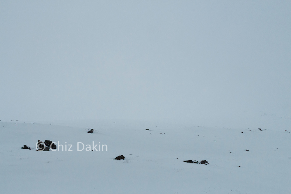 The snow was deceptively deep where it had drifted and clag over Esk Hause didn't help.