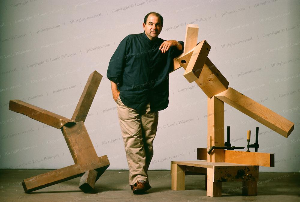 Sculptor Joel Shapiro at his studio in New York.