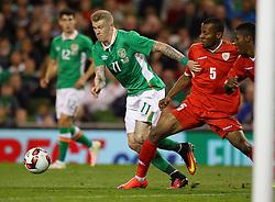 Ireland's James McClean in action against Oman's Husam Salem Said Al Shuabi - Mandatory by-line: Ken Sutton/JMP - 31/08/2016 - FOOTBALL - Aviva Stadium - Dublin,  - Republic of Ireland v Oman -