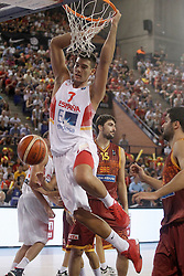25.08.2015, Palacio de los Deportes de La Rioja, Logrono, ESP, Basketball Testspiel, Spanien vs Mazedonien, im Bild Spain's Guillermo 'Willy' Hernangomez // during a International Basketball Friendly Match between Spain and Macedonia at the Palacio de los Deportes de La Rioja in Logrono, Spain on 2015/08/25. EXPA Pictures © 2015, PhotoCredit: EXPA/ Alterphotos/ Acero<br /> <br /> *****ATTENTION - OUT of ESP, SUI*****