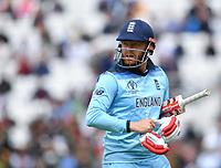 Cricket - 2019 ICC Cricket World Cup warm-ups - England vs. Afghanistan <br /> <br /> England's Jonny Bairstow dismissed for 39 in the ICC Cricket World Cup warm-up between England and Afghanistan, at The Oval.<br /> <br /> COLORSPORT/ASHLEY WESTERN