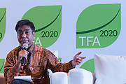 "Herry Purnomo, Scientist at the Center for International Forestry Research (CIFOR), speaks during a knowledge exchange session on the topic ""Assessing and addressing forest fire propagation in Indonesia: The root causes, impact and solutions"", at the General Assembly of the Tropical Forest Alliance 2020 in Jakarta, Indonesia, on March 11, 2016. <br /> (Photo: Rodrigo Ordonez)"