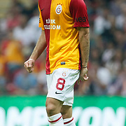 Galatasaray's Selcuk INAN during their Friendly soccer match Galatasaray between Liverpool at the TT Arena at Arslantepe in Istanbul Turkey on Saturday 28 July 2011. Photo by TURKPIX