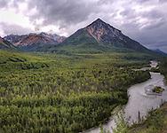 Along the Glenn Highway outside of Chickaloon Alaska sits King Mountain