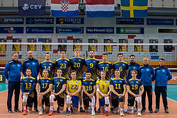 Teamphoto Sweden during the CEV Eurovolley 2021 Qualifiers between Sweden and Netherlands at Topsporthall Omnisport on May 14, 2021 in Apeldoorn, Netherlands