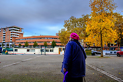 An old lady walking by the Canal du Midi, Toulouse, France<br /> <br /> (c) Andrew Wilson | Edinburgh Elite media