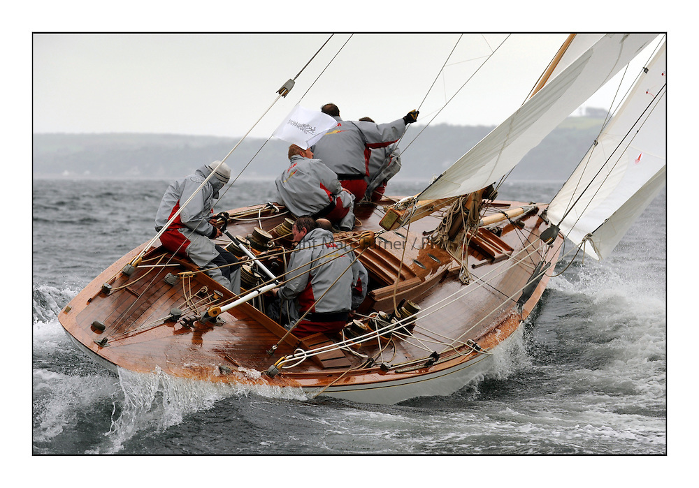 Day two of the Fife Regatta,Passage race to Rothesay.<br /> Saskia, 13, Murdoch McKillop, GBR, Bermudan Sloop, Wm Fife 3rd, 1931<br /> * The William Fife designed Yachts return to the birthplace of these historic yachts, the Scotland's pre-eminent yacht designer and builder for the 4th Fife Regatta on the Clyde 28th June–5th July 2013<br /> <br /> More information is available on the website: www.fiferegatta.com
