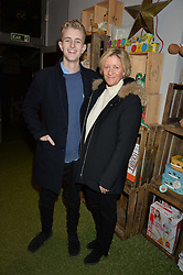 SACHA FORBES and her son JACK at a Fondue evening hosted by Rose van Cutsem and her brother Tom Astor to celebrate the new ski Season with leading ski resort Meribel, Besson Clothing and ESF ski schools at Maggie & Rose, 58 Pembroke Road, London on 7th November 2016.