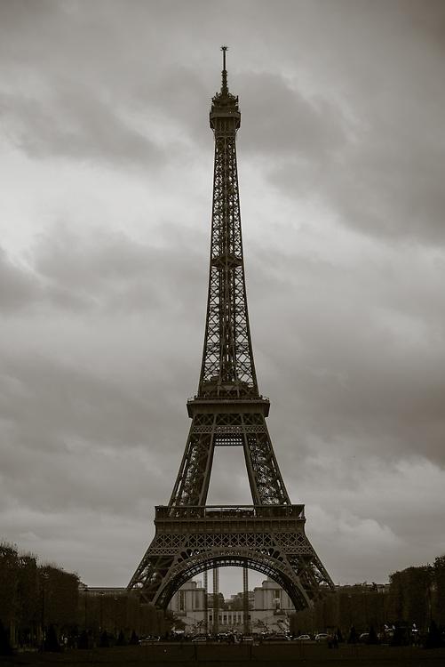 Eiffel Tower / Tour Eiffel. Paris, France. November 23, 2013. Photograph ©2013 Darren Carroll