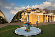 The Magazine designed by Zaha Hadid Architects,  part of the newly refurbished Serpentine Sackler Gallery, Kensington Gardens,  London. UK