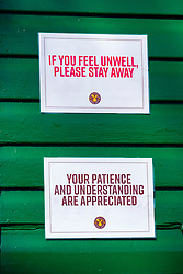 Signs of the Coronavirus. Cafe Endcliffe Park Sheffield third day emergency measures which were announced by Prime minister Boris Johnson on Monday evening (23rd march)<br /> <br /> 26 March 2020<br /> <br /> www.pauldaviddrabble.co.uk<br /> All Images Copyright Paul David Drabble -<br /> All rights Reserved -<br /> Moral Rights Asserted -