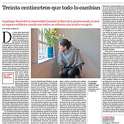 The Mexican writer Guadalupe Nettel on Babelia, El Pais - Spain - October, 20, 2020.