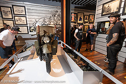 A behind the scenes tour through the archives for TROG and Born Free associates at the Harley-Davidson Museum, where the multi-acre campus acted as the central rally point during the Harley-Davidson 115th Anniversary Celebration event. Milwaukee, WI. USA. Thursday August 30, 2018. Photography ©2018 Michael Lichter.