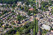 Nederland, Drenthe, Assen, 27-08-2013;<br /> De stad Assen met linksboven het begin van het stadsbos Asserbosch, een van de oudste bossen van Nederland. Jozefkerk en Zuiderkerk en Kloosterkerk. <br /> Beginning of the urban forest in the village of Assen, one of the oldest forests of the The Netherlands.<br /> luchtfoto (toeslag op standaard tarieven);<br /> aerial photo (additional fee required);<br /> copyright foto/photo Siebe Swart.