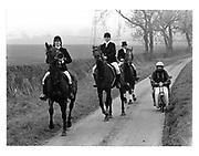 Quorn Hunt.11 November 1983. film 83813f25<br /> © Copyright Photograph by Dafydd Jones<br /> 66 Stockwell Park Rd. London SW9 0DA<br /> Tel 0171 733 0108
