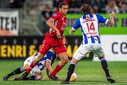 12-05-2018 NED: FC Utrecht - Heerenveen, Utrecht<br /> FC Utrecht win second match play off with 2-1 against Heerenveen and goes to the final play off / Cyriel Dessers #11 of FC Utrecht, Marco Rojas #7 of SC Heerenveen