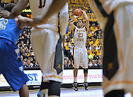 WICHITA, KS - JANUARY 18:  Guard Fred VanVleet #23 of the Wichita State Shockers shoots the ball against the Indiana State Sycamores during the first half on January 18, 2014 at Charles Koch Arena in Wichita, Kansas.  (Photo by Peter G. Aiken/Getty Images) *** Local Caption *** Fred VanVleet