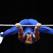 Alexander Naddour, Queen Creek, Arizona, in action on the Horizontal bar during the Senior Men Competition at The 2013 P&G Gymnastics Championships, USA Gymnastics' National Championships at the XL, Centre, Hartford, Connecticut, USA. 16th August 2013. Photo Tim Clayton