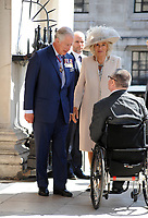 Prince Charles and Camilla at the  St Matrins in the Field  Church  for the  VC holders service london