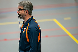Referee Marco Strik in action during the league match Taurus - Amysoft Lycurgus on January 16, 2021 in Houten.