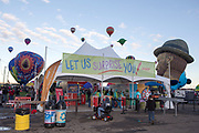 The AARP Block Party at the Albuquerque International Balloon Fiesta in Albuquerque New Mexico USA on Oct. 8th, 2018.
