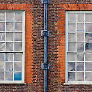 Two of the many windows at Kensington Palace, London, England.