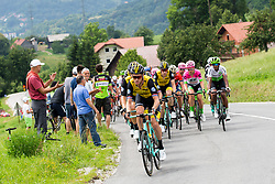 The cyclists during 3rd Stage of 25th Tour de Slovenie 2018 cycling race between Slovenske Konjice and Celje (175,7 km), on June 15, 2018 in  Slovenia. Photo by Vid Ponikvar / Sportida