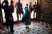 An elderly woman leaves a Catholic church in San Miguel de Allende, Mexico. PHOTO BY JACK KURTZ
