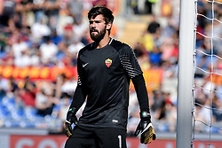 September 23, 2017 - Roma, Italy - Alisson Becker of Roma during the Serie A match between Roma and Udinese at Olympic Stadium, Roma, Italy on 23 September 2017. (Credit Image: © Giuseppe Maffia/NurPhoto via ZUMA Press)