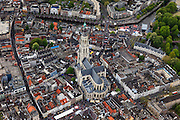 Nederland, Noord-Brabant, Breda, 09-05-2013; centrum van Breda, rond de  Grote of Onze-Lieve-Vrouwekerk. <br /> Drukte vanwege Breda Jazz Festival 2013.<br /> Center of Breda, around the Great Church.<br /> Many people around because of the Breda Jazz Festival 2013.<br /> luchtfoto (toeslag op standard tarieven);<br /> aerial photo (additional fee required);<br /> copyright foto/photo Siebe Swart.