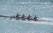 Chiswick, London, Great Britain.<br /> Marlow RC. School/Jun Quad, competing at the <br /> 2016 Schools Head of the River Race, Reverse Championship Course Mortlake to Putney. River Thames.<br /> <br /> Thursday  17/03/2016<br /> <br /> [Mandatory Credit: Peter SPURRIER;Intersport images]