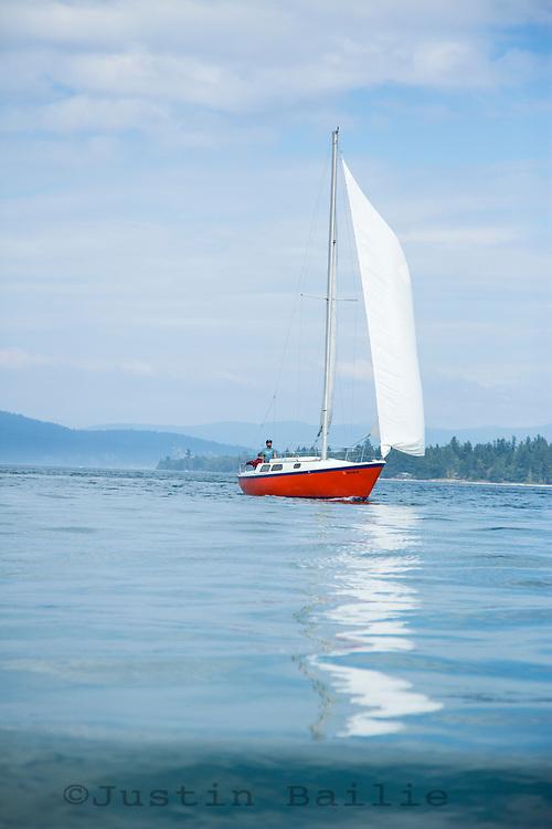 Sailing, Puget Sound, Washington.