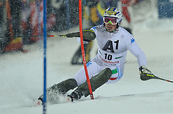 24.01.2012, Planai, Schladming, AUT, FIS Weltcup Ski Alpin, Herren, Slalom 1. Durchgang, im Bild Giuliano Razzoli (ITA) // Giuliano Razzoli of Italy during the first run of the FIS Alpine Skiing World Cup mens slalom race, Schladming, Austria on 2012/01/24. EXPA Pictures © 2012, PhotoCredit: EXPA/ Sandro Zangrando