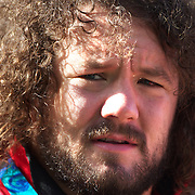 Adam Jones, Wales, on the sideline during the Wales teams Captain's run at Eden Park in preparation for the third against fourth play off match with Australia at the IRB Rugby World Cup tournament, Auckland, New Zealand. 20th October 2011. Photo Tim Clayton...