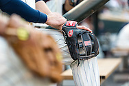 A close up view of the glove of Trevor Plouffe #24 of the Minnesota Twins before a game against the Chicago White Sox on June 19, 2013 at Target Field in Minneapolis, Minnesota.  The Twins defeated the White Sox 7 to 4.  Photo: Ben Krause