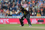Lewis Gregory of Somerset batting during the Vitality T20 Finals Day semi final 2018 match between Sussex Sharks and Somerset County Cricket Club at Edgbaston, Birmingham, United Kingdom on 15 September 2018.