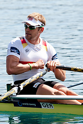 Marcel Hacker of Germany during Men's Single Sculls at Rowing World Championships Bled 2011 on September 2, 2011, in Bled, Slovenia. (Photo by Matic Klansek Velej / Sportida)