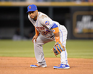 CHICAGO - JULY 31:  Robinson Cano #24 of the New York Mets fields against the Chicago White Sox on July 31, 2019 at Guaranteed Rate Field in Chicago, Illinois.  (Photo by Ron Vesely)  Subject:   Robinson Cano
