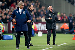 Fulham manager Claudio Ranieri (right) gestures on the touchline during the Premier League match at London Stadium.
