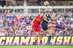 October 14, 2017 - Orlando, Florida, United States - Orlando, FL - Saturday October 14, 2017: Emily Menges, Ashley Hatch during the NWSL Championship match between the North Carolina Courage and the Portland Thorns FC at Orlando City Stadium. (Credit Image: © Jeremy Reper/ISIPhotos via ZUMA Wire)