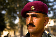 Lance Corporal Daffadar Lal from the Indian Army's Presidential Bodyguard regiment (also known as the PBG) on duty.  The PBG is the Indian Army's preeminent regiment founded in 1773 during the British occupation, this handpicked unit began with a mere 50 men and today stands at 160 soldiers plus 50 support staff. It has a dual role, both as a ceremonial guard for the President of India, with all its finery at important state functions, as well as an elite operational unit for the Indian Army which has seen action in many battle fronts, in particular the on going disputed region of Kashmir.