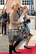 Prinses Leonore dochter , de jongste dochter van Prins Constantijn en  Prinses Laurentien is zondagochtend 8 oktober 2006 in  de kapel van Paleis Het Loo  in Apeldoorn gedoopt. / Princes Leonore, the jongest daughter of Prince Constantijn en Princes Laurentien, is baptist in Palace Het Loo in Apeldoorn.<br /> <br /> Op de foto / On the photo:  Prinses Irene en prinses Margarita (r)
