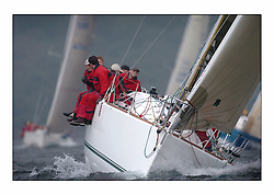 Bell Lawrie Series Tarbert Loch Fyne - Yachting.The third day's inshore races, which transpired to be the last...Class two's Tundra GBR4072C with DAve Kelly pooping up after a quick Ice Cream..