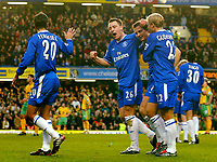 Fotball<br /> Premier League England 2004/2005<br /> 18.12.2004<br /> Foto: BPI/Digitalsport<br /> NORWAY ONLY<br /> <br /> Chelsea v Norwich City<br /> FA Barclays Premiership<br /> 18/12/2004.<br /> <br /> Frank Lampard celebrates the second for Chelsea.